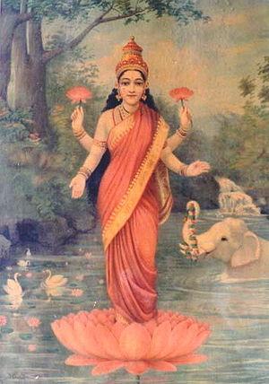 300px-Ravi_Varma-Lakshmi